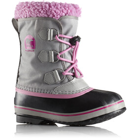 Sorel Yoot Pack Nylon Stivali Bambino, chrome grey/orchid
